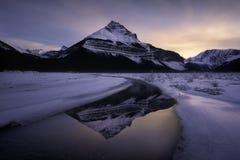 Lever de soleil de montagne rocheuse Photographie stock libre de droits