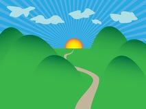 Lever de soleil de montagnes/ENV Photo libre de droits