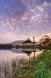 Lever de soleil de mosquée de Quran de Darul Image stock