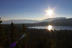 Lever de soleil de Mt. Tallac images libres de droits