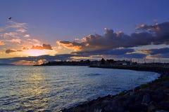 Lever de soleil de Nessebar Photographie stock libre de droits