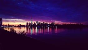 Lever de soleil de New York City Image stock