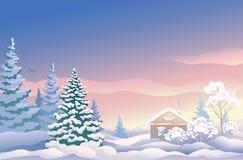 Lever de soleil de Noël Photographie stock libre de droits