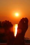 Lever de soleil de observation Photos libres de droits