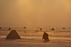 Lever de soleil de pêche Image libre de droits