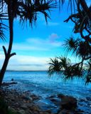 Lever de soleil de parc national de Noosa Photographie stock