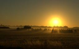 Lever de soleil de pays Photo libre de droits
