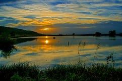 Lever de soleil de paysage Image stock