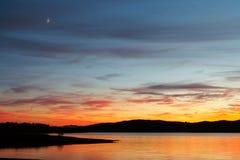 Lever de soleil de paysage marin photographie stock libre de droits