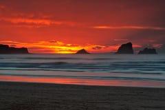 Lever de soleil de paysage marin images libres de droits
