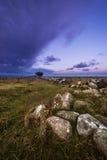 Lever de soleil de phare d'Ottenby Photographie stock