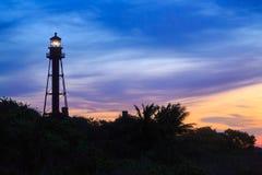 Lever de soleil de phare de Sanibel Image stock