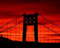 Lever de soleil de Pittsburgh Image libre de droits