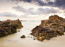 Lever de soleil de plage Photographie stock