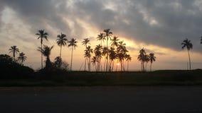 Lever de soleil de plage Image libre de droits