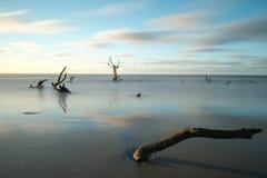 Lever de soleil de plage image stock