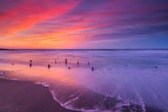 Lever de soleil de plage d'affaire Image libre de droits