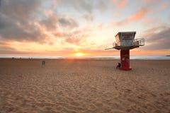 Lever de soleil de plage d'Avoca Images libres de droits
