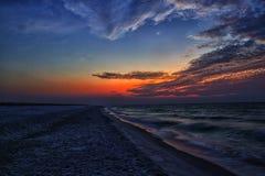 Lever de soleil de plage de Pensacola Images libres de droits