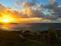 Lever de soleil de Poipu Photos libres de droits