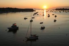 Lever de soleil de port de Beverly Mass images stock