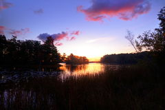 Lever de soleil de région sauvage Photographie stock libre de droits