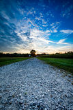 Lever de soleil de route Images libres de droits