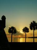 Lever de soleil de rue Augustine Photo libre de droits