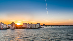 Lever de soleil de Sarasota, la Floride au printemps Photographie stock