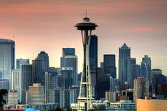 lever de soleil de Seattle images libres de droits