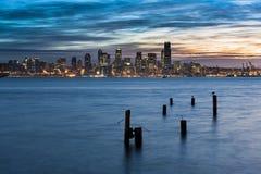 Lever de soleil de Seattle photos stock