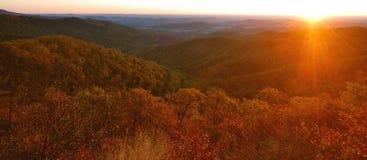 lever de soleil de shenandoah d'automne Images libres de droits