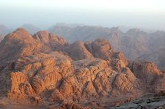 Lever de soleil de Sinai Images libres de droits