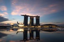 Lever de soleil de Singapour Photos libres de droits