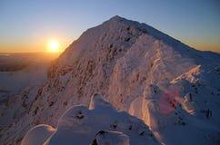 Lever de soleil de Snowdon Images libres de droits