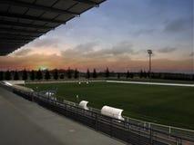 Lever de soleil de stade de rugby image stock