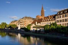 Lever de soleil de Strasbourg Photo stock