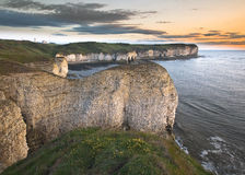 Lever de soleil de tête de Flamborough Images stock