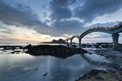 Lever de soleil de Taïwan Sanxiantai images stock