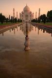 Lever de soleil de Taj Mahal Images libres de droits