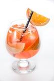 Lever de soleil de tequila avec l'orange dans un verre d'ouragan Images libres de droits