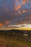Lever de soleil de tour de Telstra d'arborétum national Photos libres de droits