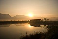 Lever de soleil de vallée photo libre de droits