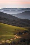 Lever de soleil de vallée de Cataloochee photos stock