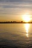 lever de soleil de ville images stock