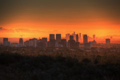 Lever de soleil de ville de siècle Photo libre de droits