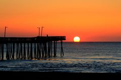 Lever de soleil de Virginia Beach Photo stock