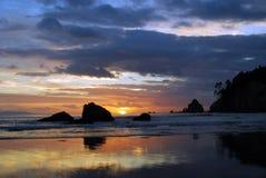 Lever de soleil de Whangamata Photo stock
