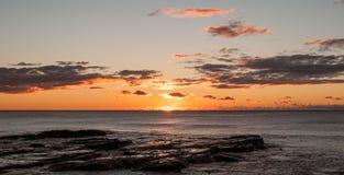 Lever de soleil de Wollongong Photographie stock libre de droits