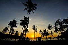 Lever de soleil de Wua à l'île de recouvrement merci Photos stock
